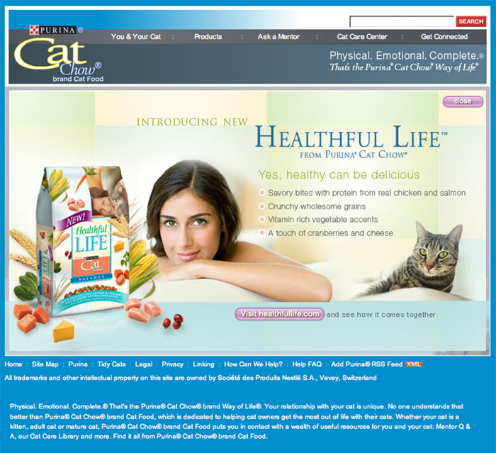 Purina Cat Chow Healthful Life Homepage « Jennifer Lafer ...